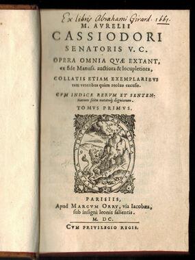 cassiodoruscatawiki