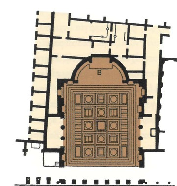Lararium lib Pompei floorplan