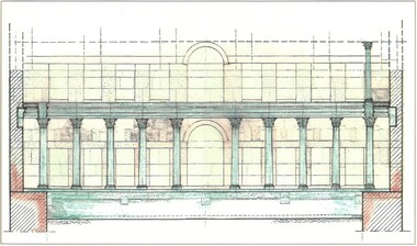 Hadrians lib westwing reconstruction