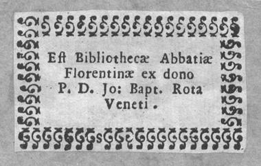 Badia Fiorentina Ex Libris