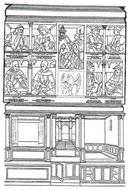 Federico da Montefeltro Studiolo drawing